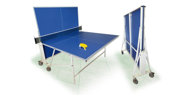 Tavolo ping pong mod c ruote ricci biliardi - Costruire tavolo ping pong pieghevole ...
